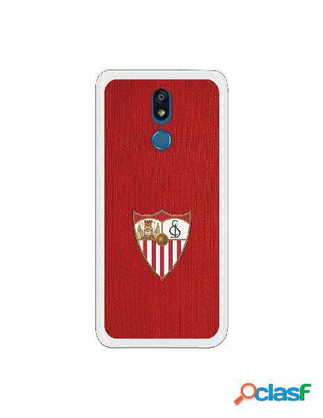 Funda oficial sevilla escudo color fondo rojo para lg k40