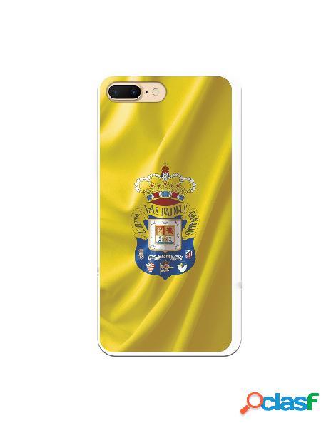 Funda para iphone 8 plus oficial del las palmas bandera amarilla - licencia oficial del las palmas
