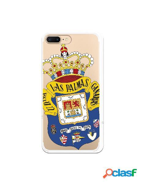 Funda para iphone 8 plus oficial del las palmas escudo transparente - licencia oficial del las palmas