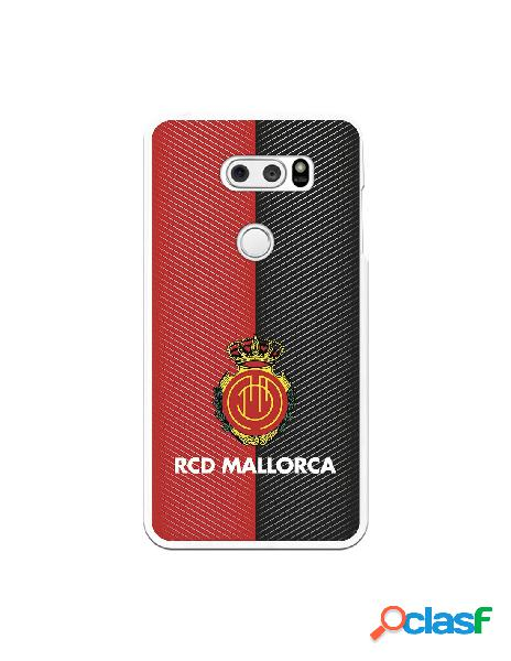 Funda para lg v30 del mallorca rcd mallorca diagonales transparente - licencia oficial rcd mallorca