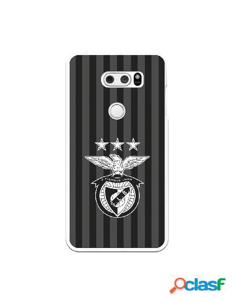 Funda para LG V30 del Benfica Escudo Franjas Negras - Licencia Oficial Benfica