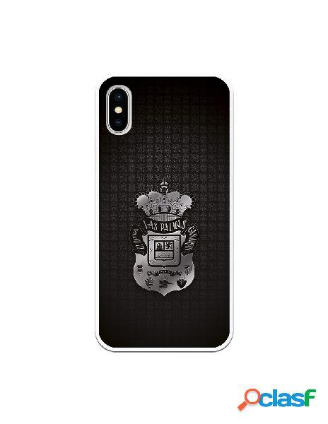 Funda para iphone xs oficial del las palmas escudo plateado - licencia oficial del las palmas