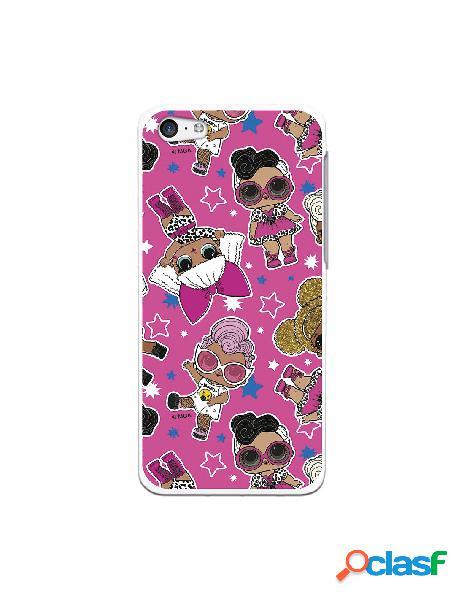 Funda para iphone 5c oficial de lol patrón fondo rosa - lol