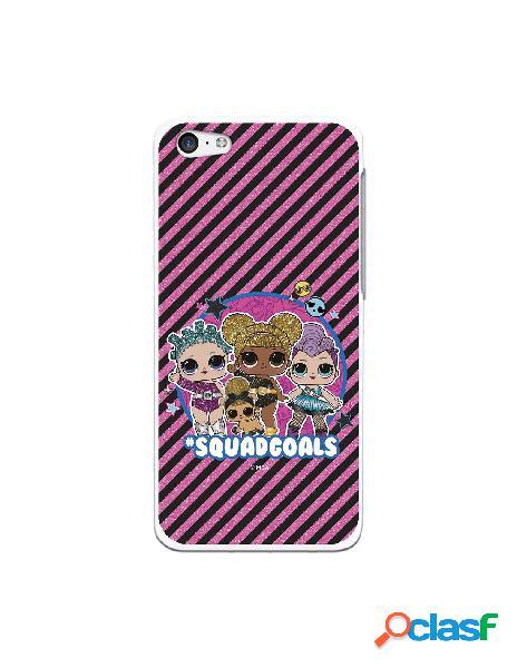 Funda para iphone 5c oficial de lol squadgoals rayas rosas - lol