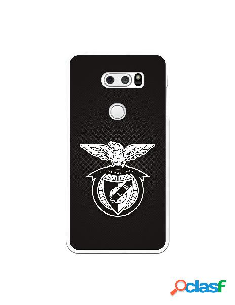Funda para LG V30 del Benfica Escudo Fondo Plateado - Licencia Oficial Benfica