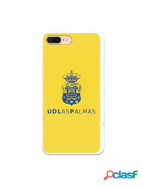 Funda para iphone 8 plus oficial del las palmas azul fondo amarillo - licencia oficial del las palmas