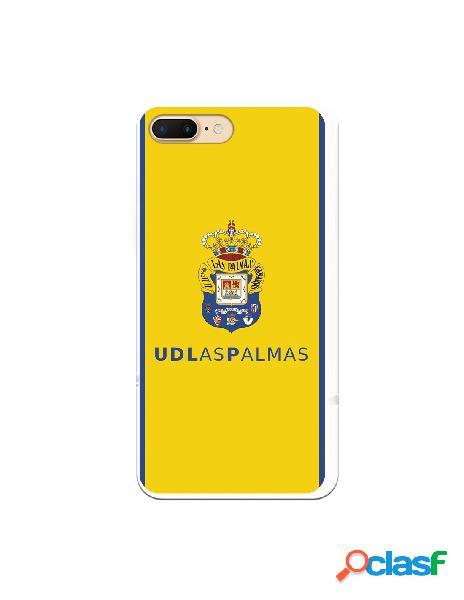 Funda para iphone 8 plus oficial del las palmas escudo color fondo amarillo - licencia oficial del las palmas