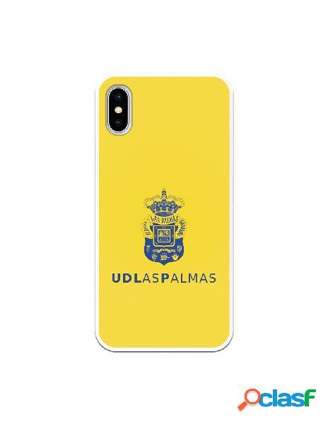 Funda para iphone xs oficial del las palmas azul fondo amarillo - licencia oficial del las palmas