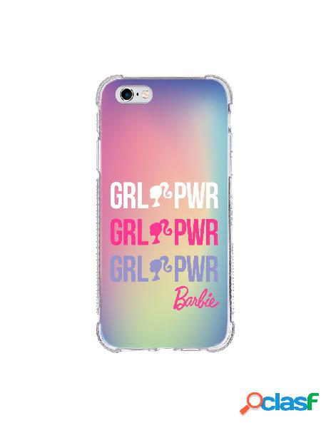 Funda para iphone 6s oficial de mattel barbie girl power brillo laser - barbie