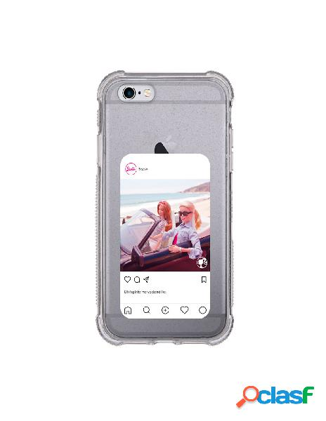 Funda para iphone 6s oficial de mattel barbie instagram brillantina reforzada - barbie