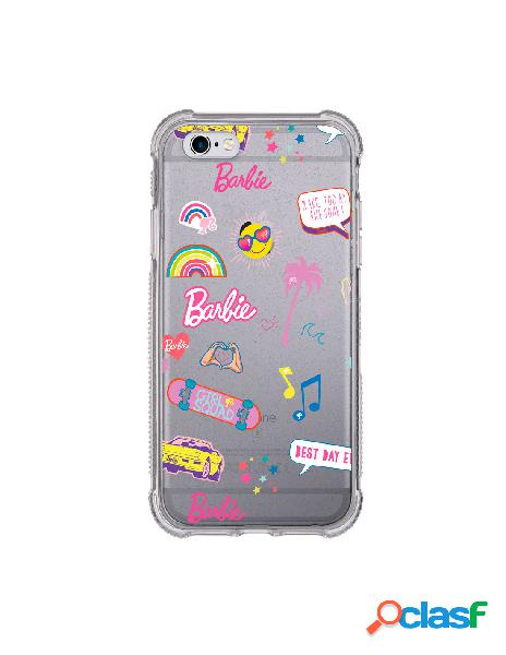Funda para iphone 6s oficial de mattel barbie stickers brillantina reforzada - barbie