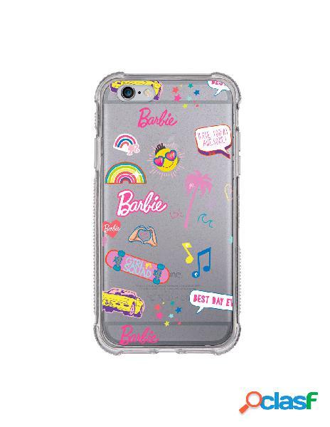 Funda para iphone 6s plus oficial de mattel barbie stickers brillantina reforzada - barbie