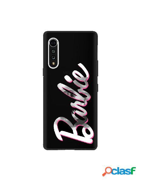 Funda para lg velvet 5g oficial de mattel barbie logo barbie silicona negra - barbie