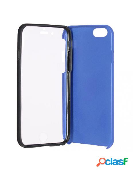 Funda cromada con tapa azul iphone 6s plus