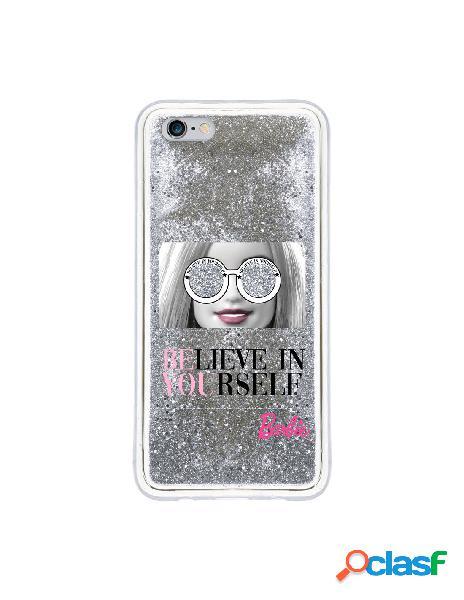 Funda para iphone 6s plus oficial de mattel barbie believe in yourself liquida plateada - barbie