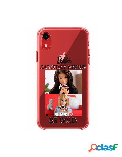 Funda para iphone xr oficial de mattel barbie saturday nights be wild silicona roja - barbie