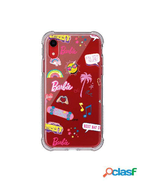 Funda para iphone xr oficial de mattel barbie stickers brillantina reforzada - barbie
