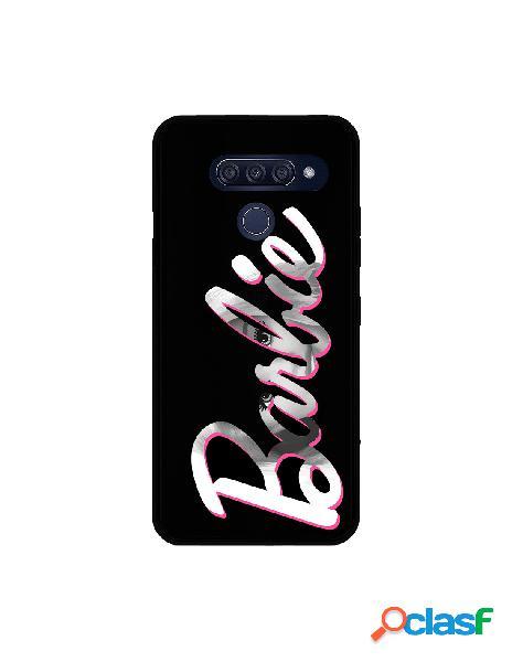 Funda para lg q60 oficial de mattel barbie logo barbie silicona negra - barbie