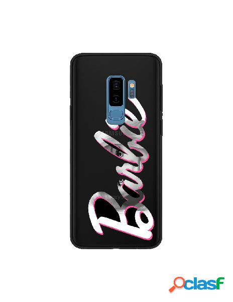 Funda para samsung galaxy s9 plus oficial de mattel barbie logo barbie silicona negra - barbie