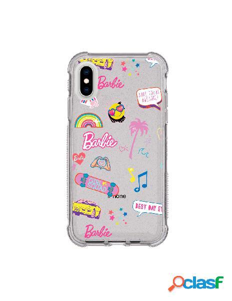 Funda para iphone xs oficial de mattel barbie stickers brillantina reforzada - barbie