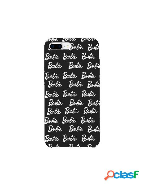 Funda para iphone 8 plus oficial de mattel barbie ultrasuave logo negra - barbie