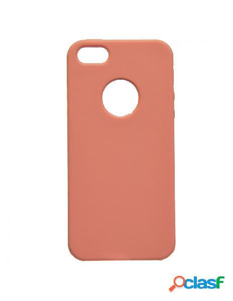 Funda ultra suave logo salmón para iphone 5