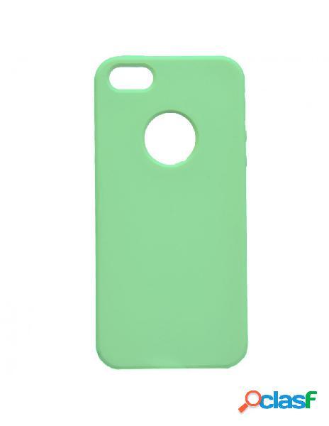 Funda ultra suave logo verde menta para iphone 5