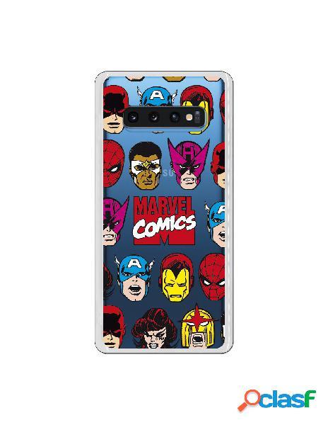 Funda marvel comics super heroes para samsung galaxy s10 plus