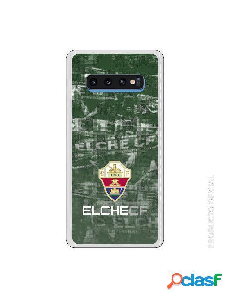 Funda oficial escudo elche cf fondo afición para samsung galaxy s10 plus