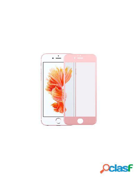 Cristal templado completo oro rosa para iphone 5