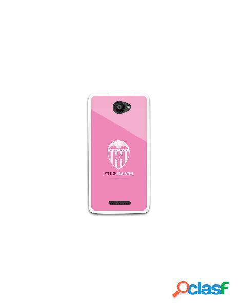 Funda oficial valencia escudo rosa bq aquaris u lite