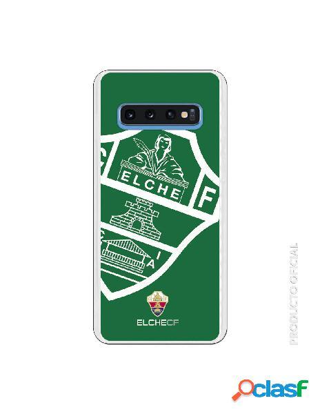 Funda oficial escudo elche cf fondo verde para samsung galaxy s10