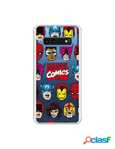 Funda marvel comics super heroes para samsung galaxy s10