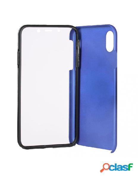 Funda cromada con tapa azul iphone xs max