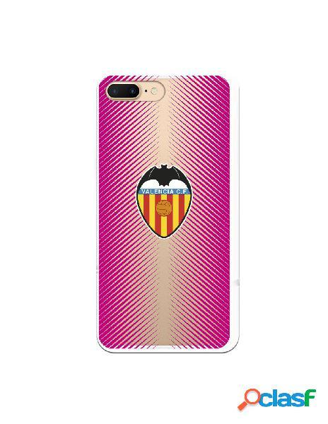 Carcasa para iphone 8 plus oficial del valencia cf fondo rosa clear - licencia oficial del valencia cf