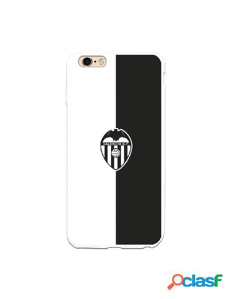Carcasa para iphone 6s plus oficial del valencia cf bicolor escudo negro - licencia oficial del valencia cf