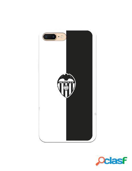 Carcasa para iphone 8 plus oficial del valencia cf bicolor escudo negro - licencia oficial del valencia cf