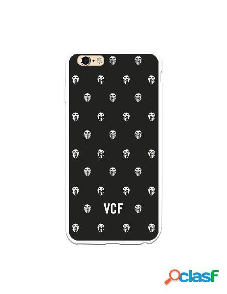 Carcasa para iphone 6s plus oficial del valencia cf escudos blancos fondo negro - licencia oficial del valencia cf