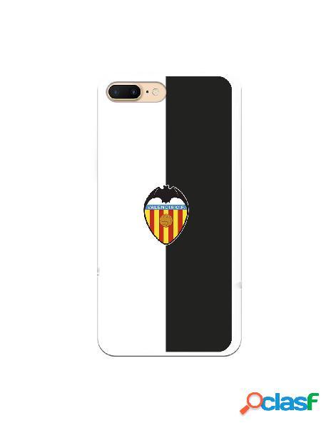 Carcasa para iphone 8 plus oficial del valencia cf bicolor escudo color - licencia oficial del valencia cf