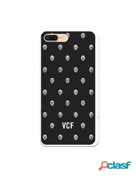 Carcasa para iphone 8 plus oficial del valencia cf escudos blancos fondo negro - licencia oficial del valencia cf