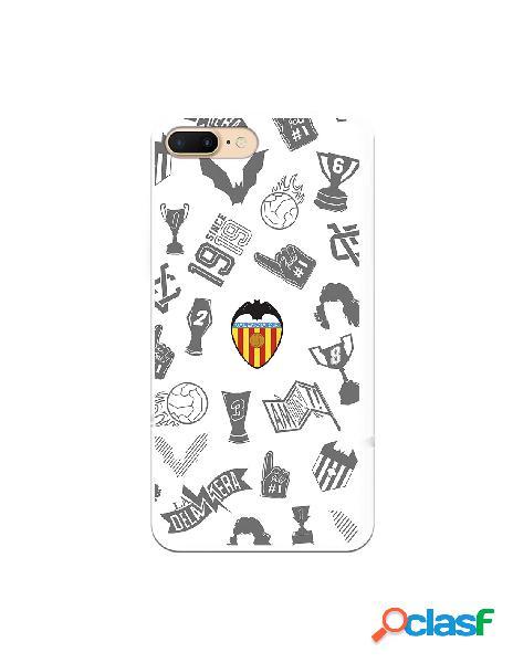 Carcasa para iphone 8 plus oficial del valencia cf stickers gris escudo color - licencia oficial del valencia cf