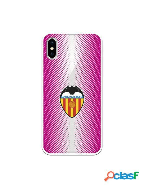 Carcasa para iphone xs oficial del valencia cf fondo rosa clear - licencia oficial del valencia cf