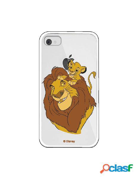 Funda para iphone 4s oficial de disney mufasa y simba silueta - el rey león