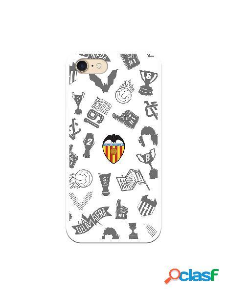 Carcasa para iphone 8 oficial del valencia cf stickers gris escudo color - licencia oficial del valencia cf