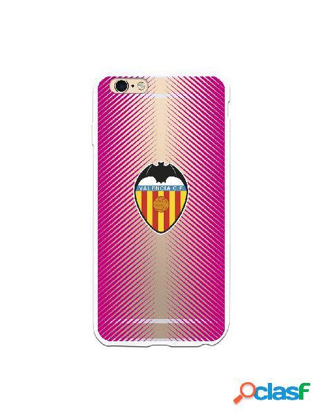Carcasa para iphone 6s plus oficial del valencia cf fondo rosa clear - licencia oficial del valencia cf
