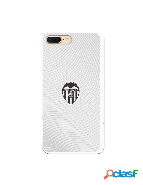 Carcasa para iphone 8 plus oficial del valencia cf escudo negro fondo blanco - licencia oficial del valencia cf