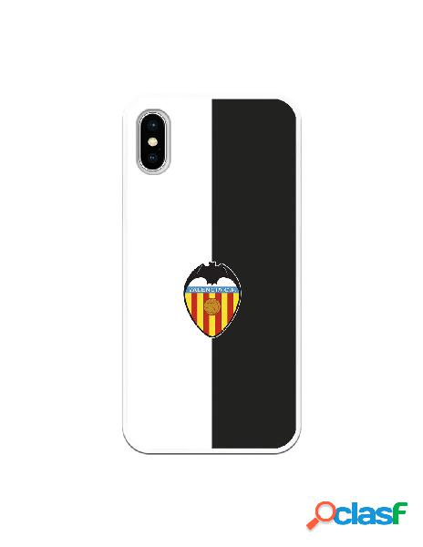 Carcasa para iphone xs oficial del valencia cf bicolor escudo color - licencia oficial del valencia cf
