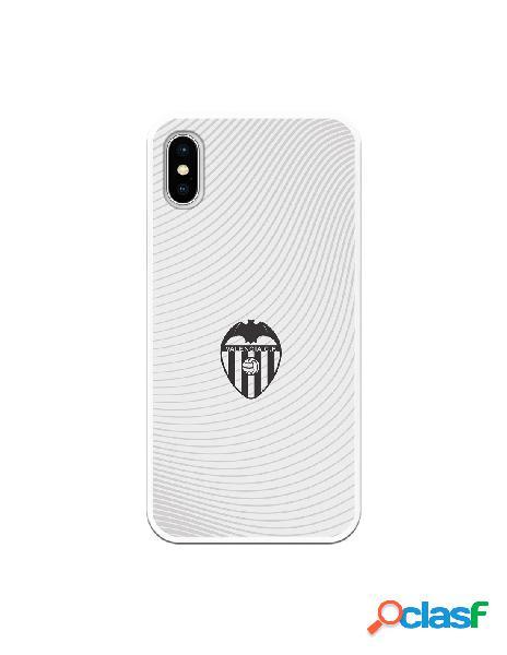 Carcasa para iphone xs oficial del valencia cf escudo negro fondo blanco - licencia oficial del valencia cf