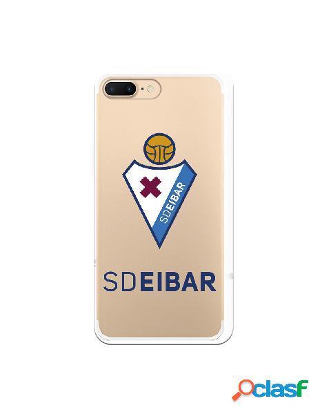 Carcasa para iphone 8 plus oficial del sd eibar escudo transparente - licencia oficial del sd eibar