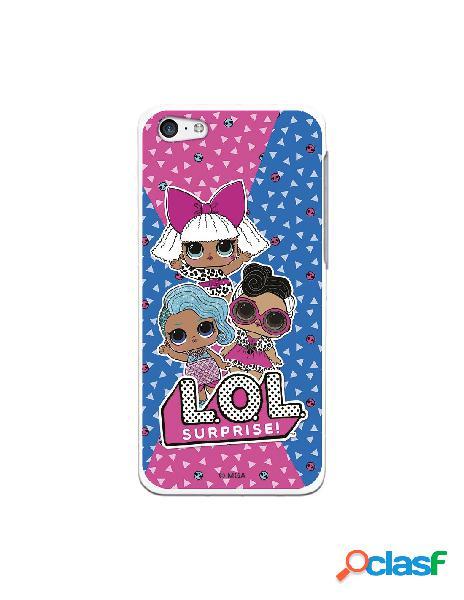 Funda para iphone 5c oficial de lol surprise rosa y azul - lol